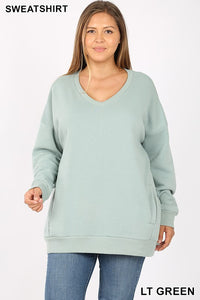 Sweatshirt V-Neck Plus