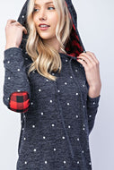 Sweatshirt (Navy Polka Dot)