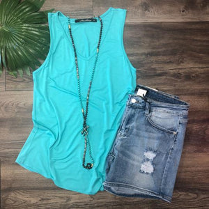V-Neck Tank Solid (Multiple colors available)