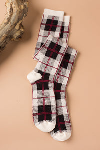 Boot Socks, Perfectly Plaid (more colors available)