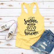 Graphic Tank, Racerback (Sunshine mixed with Hurricane)