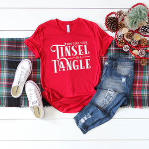 Graphic Tee (Tinsel in a Tangle red)