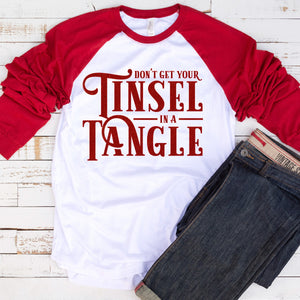 Graphic Baseball Tee (Tinsel in a Tangle)