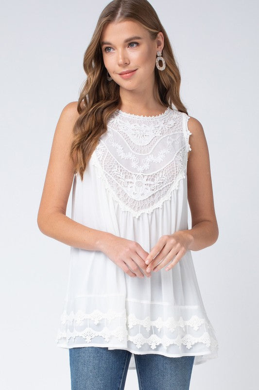 Sleeveless Top (Ivory)