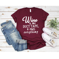 Graphic Tee (Wine is like Duct Tape 2)