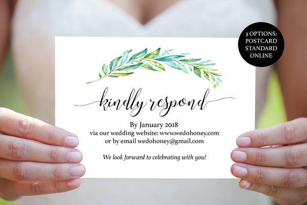 Rustic Greenery Wedding RSVP