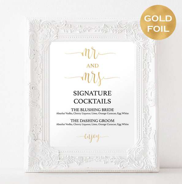 Gold signature drink template