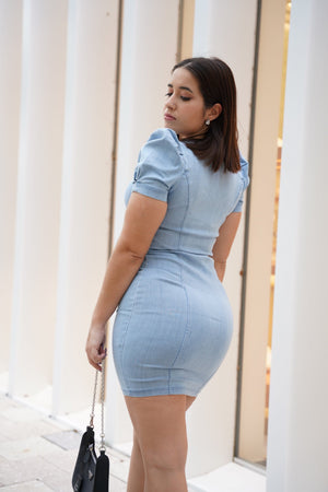 Load image into Gallery viewer, Maria denim dress