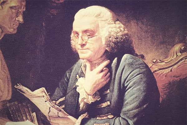 ben franklin reading diary journal