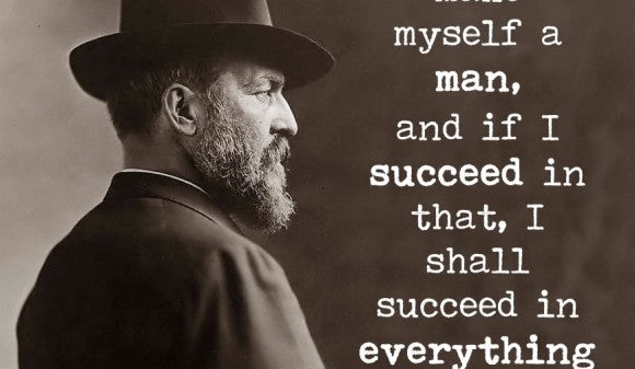 Famous Quote Poster James A Garfield I Mean To Make Myself A Man