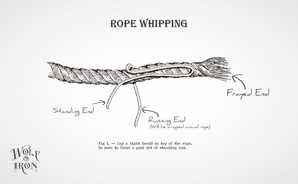 wolf and iron how to tie whip knot 1