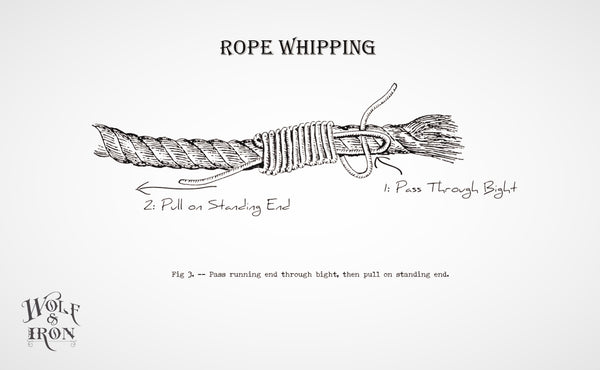 wolf and iron how to tie whip knot 3