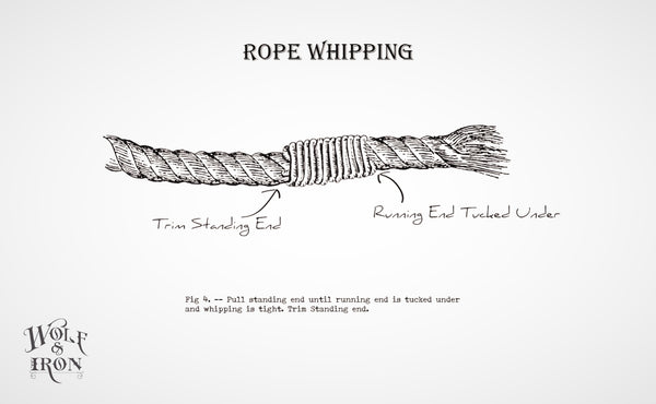 wolf and iron how to tie whip knot
