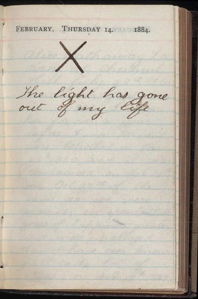 teddy roosevelt journal entry wife death