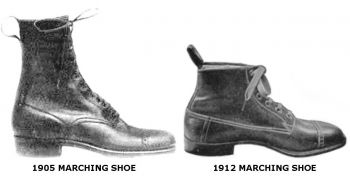 "Russet Marching ""Shoe"" is what soldiers wore prior to the Trench Boot."