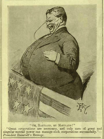 theodore roosevelt getting fat cartoon