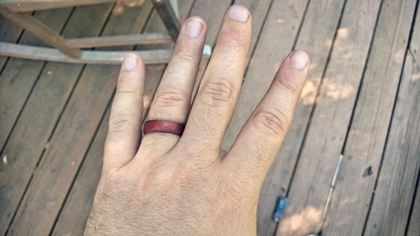 make a wooden wedding ring 17