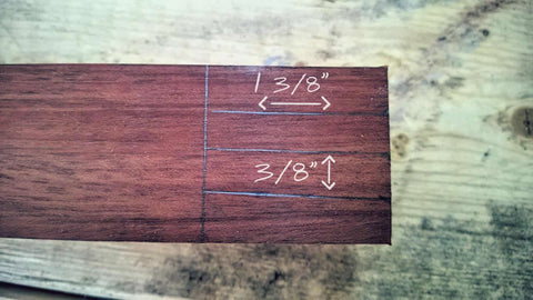 Measurements are approximate. Make sure to add extra width for the sanding process.