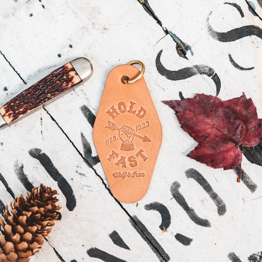 Hold Fast Leather Keychain