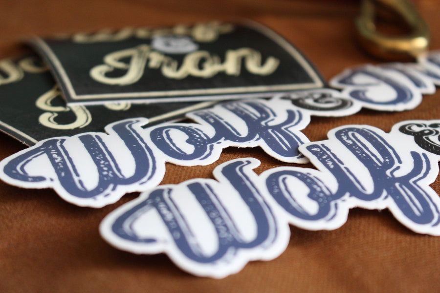 Stickers - Wolf & Iron Sticker Pack With Man Cards