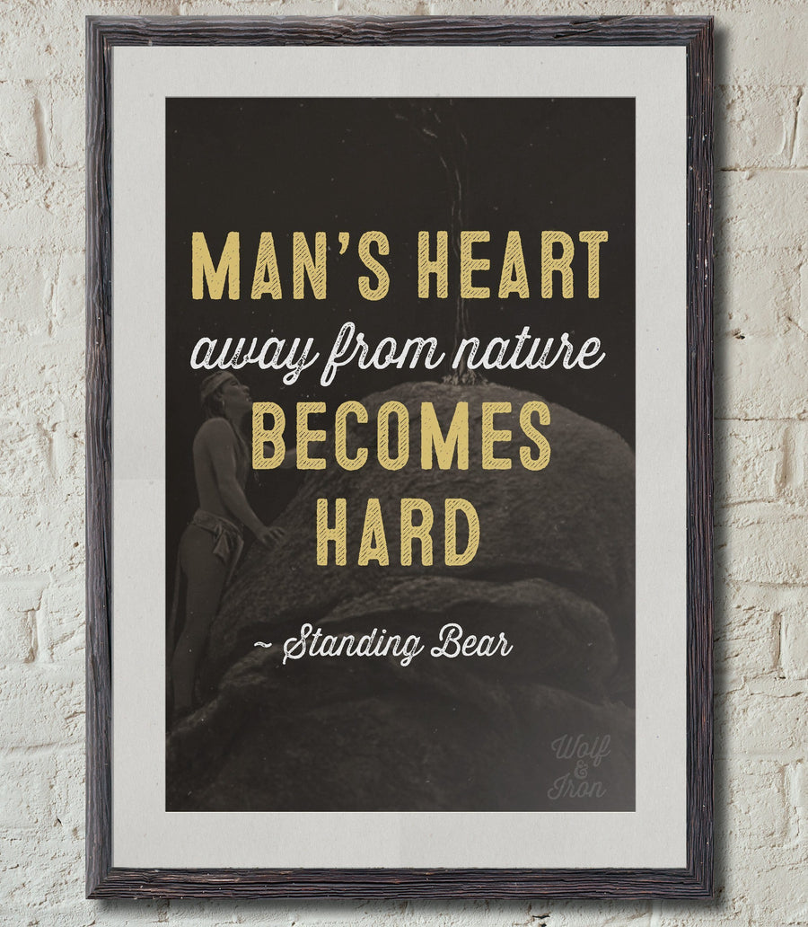 Print - Man's Heart Away From Nature Print