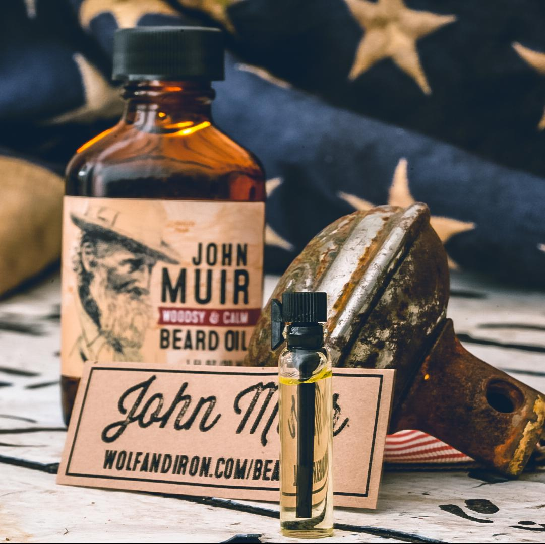 John Muir Beard Oil Sample