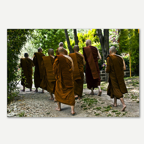Stampa fotografica d'autore - Kheiraoui, Walking monks