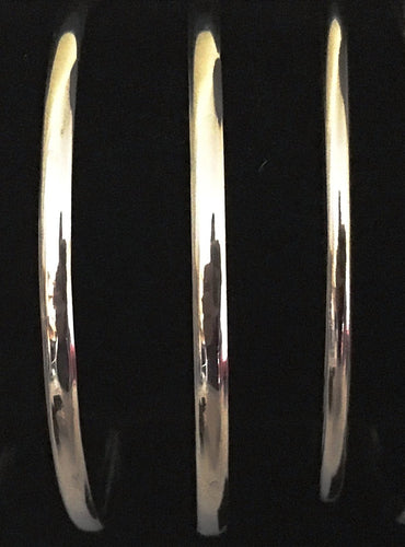 Plain Sterling Silver Polished Bangle