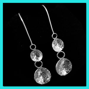 Glitter Dangly Earrings