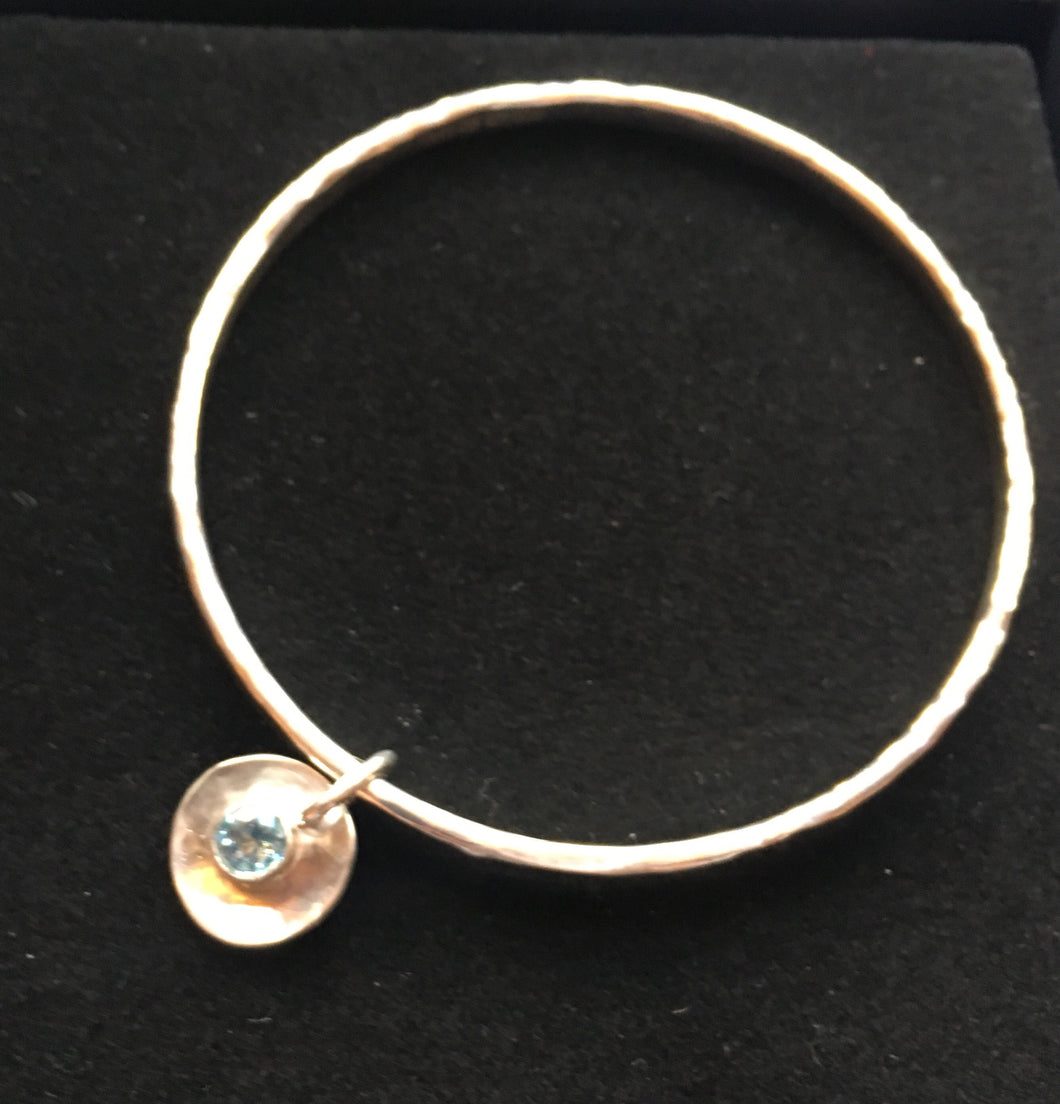 Topaz Charm Sparkle Bangle