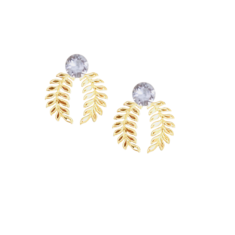 Halcyon & Hadley Cleopatra Statement Studs with Swarovski Crystals - Women's Earrings - Women's Jewelry - Unique Earrings - Statement Earrings