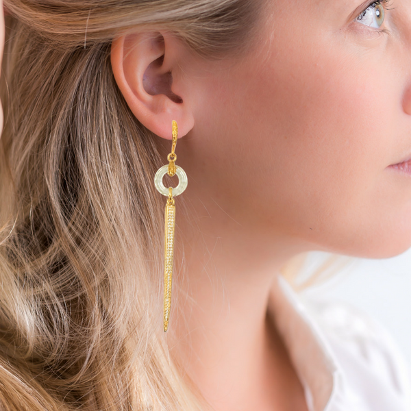 Halcyon & Hadley Deco Mirror Earrings - Women's Earrings - Women's Jewelry - Unique Earrings - Statement Earrings