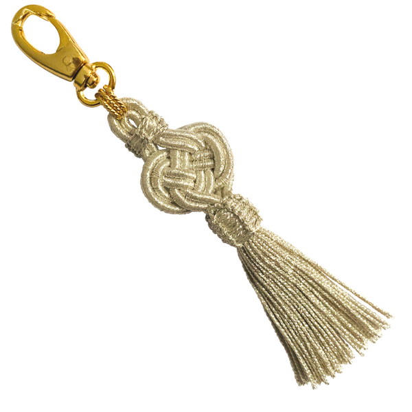 Halcyon & Hadley Moroccan Silk Tassel Bag Charm in Silver - Women's Earrings - Women's Jewelry - Unique Earrings - Statement Earrings