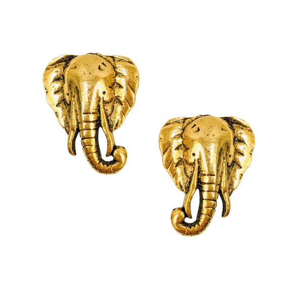 Halcyon & Hadley Elephant Statement Stud Earrings - Women's Earrings - Women's Jewelry - Unique Earrings - Statement Earrings