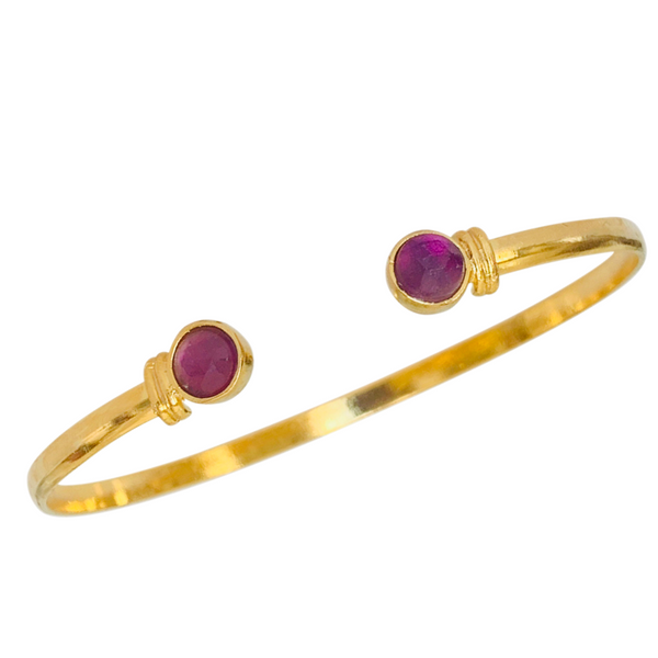 Halcyon & Hadley The Hadley Cuff Bracelet in Amethyst - Women's Earrings - Women's Jewelry - Unique Earrings - Statement Earrings