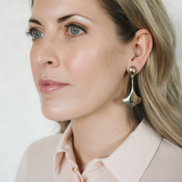 Halcyon & Hadley Morning Gloria Gold Statement Earrings - Women's Earrings - Women's Jewelry - Unique Earrings - Statement Earrings