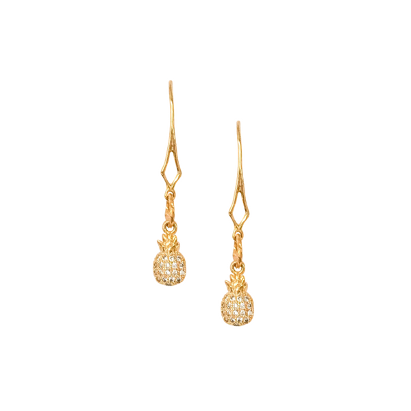 Halcyon & Hadley La Petite Pave Pineapples Drop Earrings - Women's Earrings - Women's Jewelry - Unique Earrings - Statement Earrings