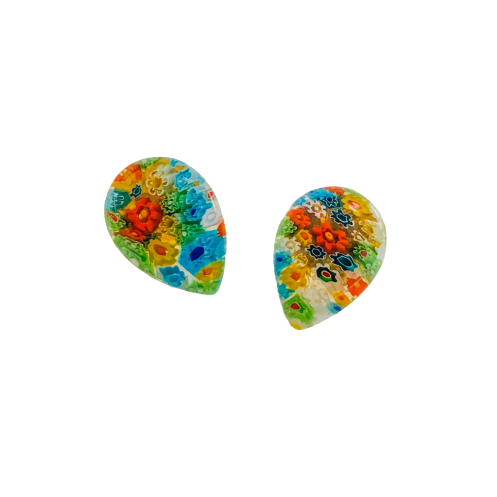 Halcyon & Hadley Millefiori Studs - Women's Earrings - Women's Jewelry - Unique Earrings - Statement Earrings