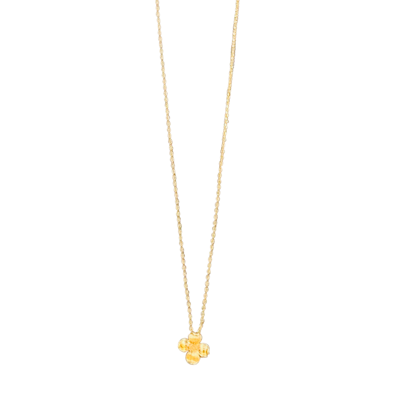 Delicate Dogwood Necklace in Gold