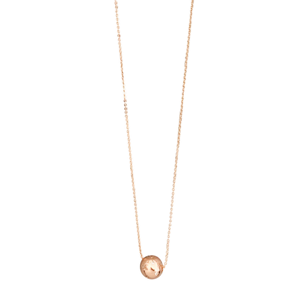 Lunar Necklace in Rose Gold Pave