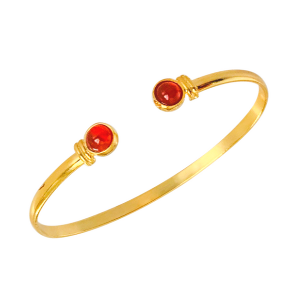 Halcyon & Hadley The Hadley Cuff Bracelet in Carnelian - Women's Earrings - Women's Jewelry - Unique Earrings - Statement Earrings