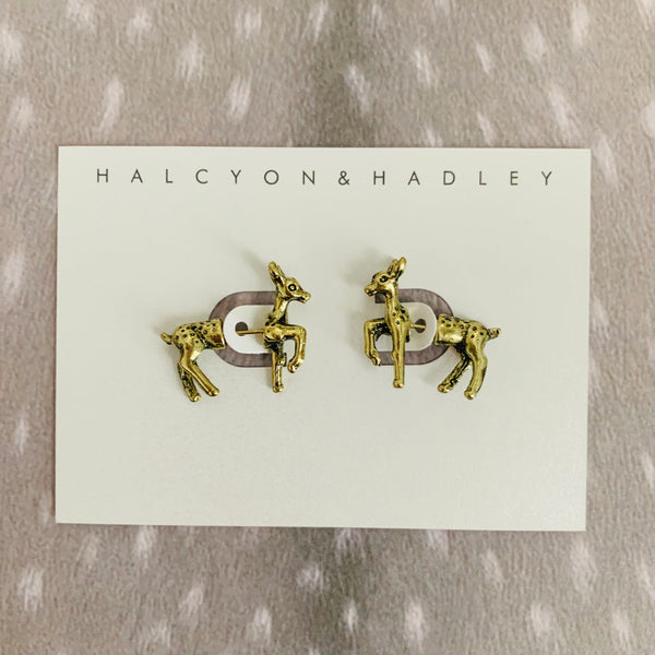 Halcyon & Hadley Doe, a Deer Statement Studs - Women's Earrings - Women's Jewelry - Unique Earrings - Statement Earrings