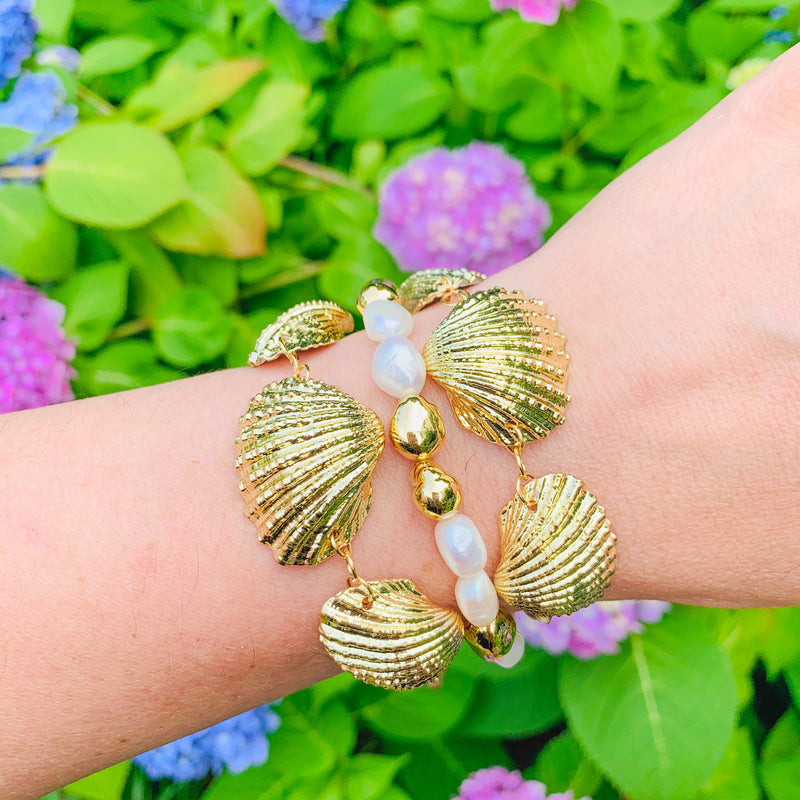 Halcyon & Hadley Ipswich Clam Bracelet - Women's Earrings - Women's Jewelry - Unique Earrings - Statement Earrings