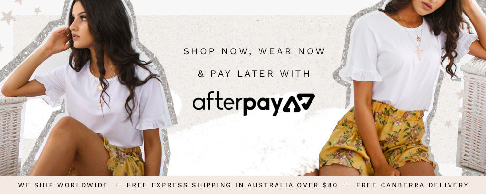 Shop now, wear now,& pay later with Afterpay