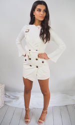 Trésor // Buckle Dress White