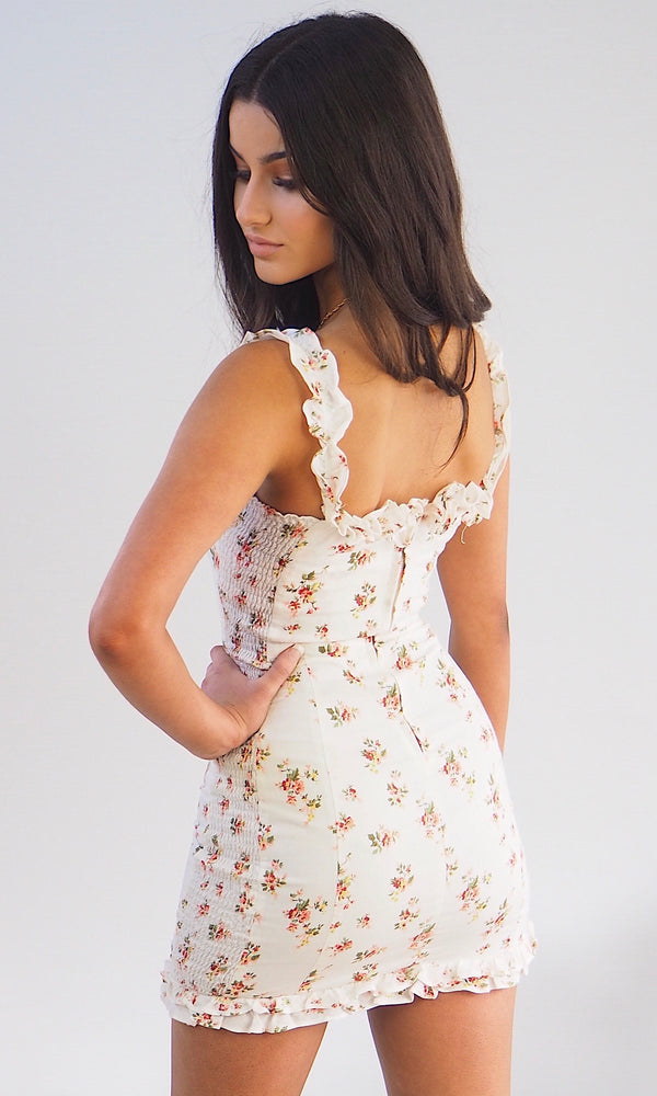 Enjoué // Floral Mini Dress