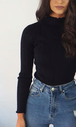 Noir // Turtleneck Top