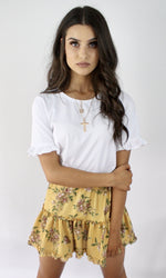 Citronnade // Floral Mini Skirt