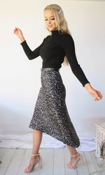 Overnight Success  // Midi Polka-Dot Skirt