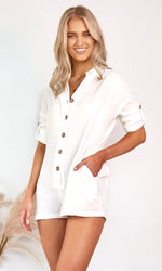 Yves // White Playsuit